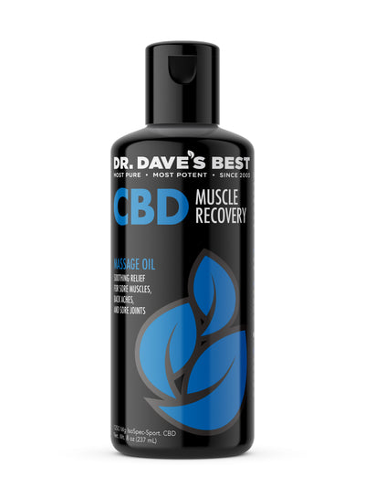 Dr. Dave's Best CBD Massage Oil - Recovery - DrDavesBest