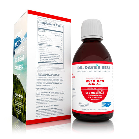 Wild red fish oil full of Omega-7 fatty acids from Dr. Dave's Best
