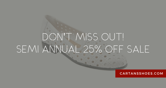 Our Semi-Annual 25% off Sale is Here!