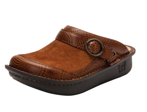 alegria shoes brown clogs
