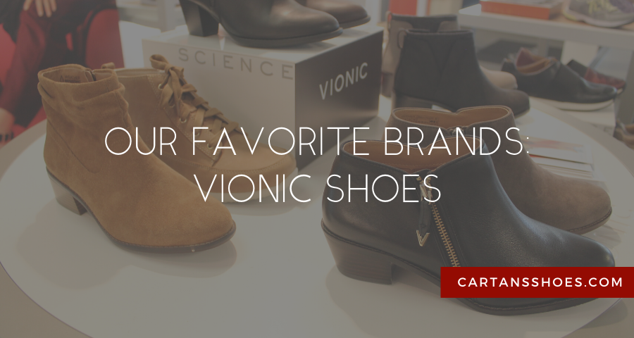 vionic shoes at cartan's shoes