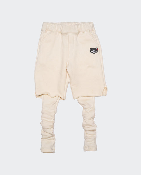 Layered Shorts (Off White)