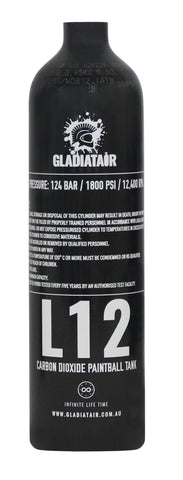 GladiatAir L12 - Co2 Tank - Air Tanks paintball