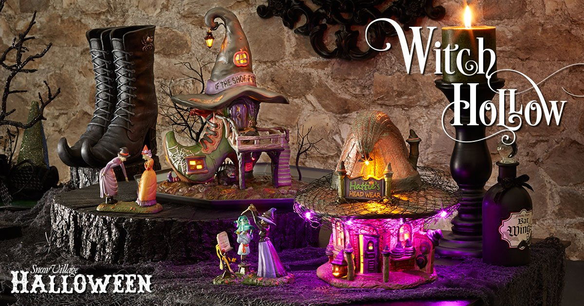 Snow Village Halloween