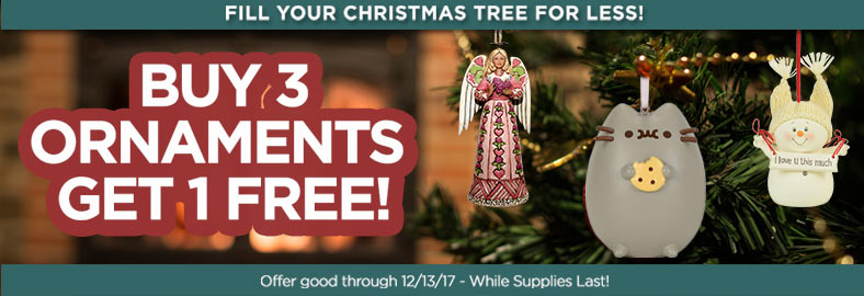 Buy 3 Ornaments Get 1 Free!