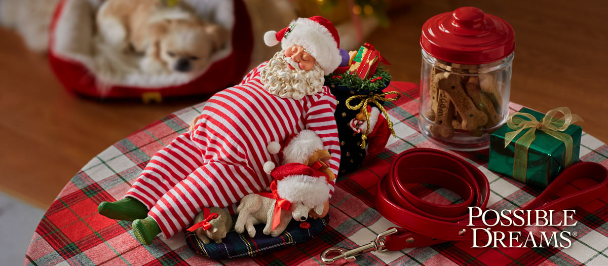 Possible Dreams Santas Santa and His Pets