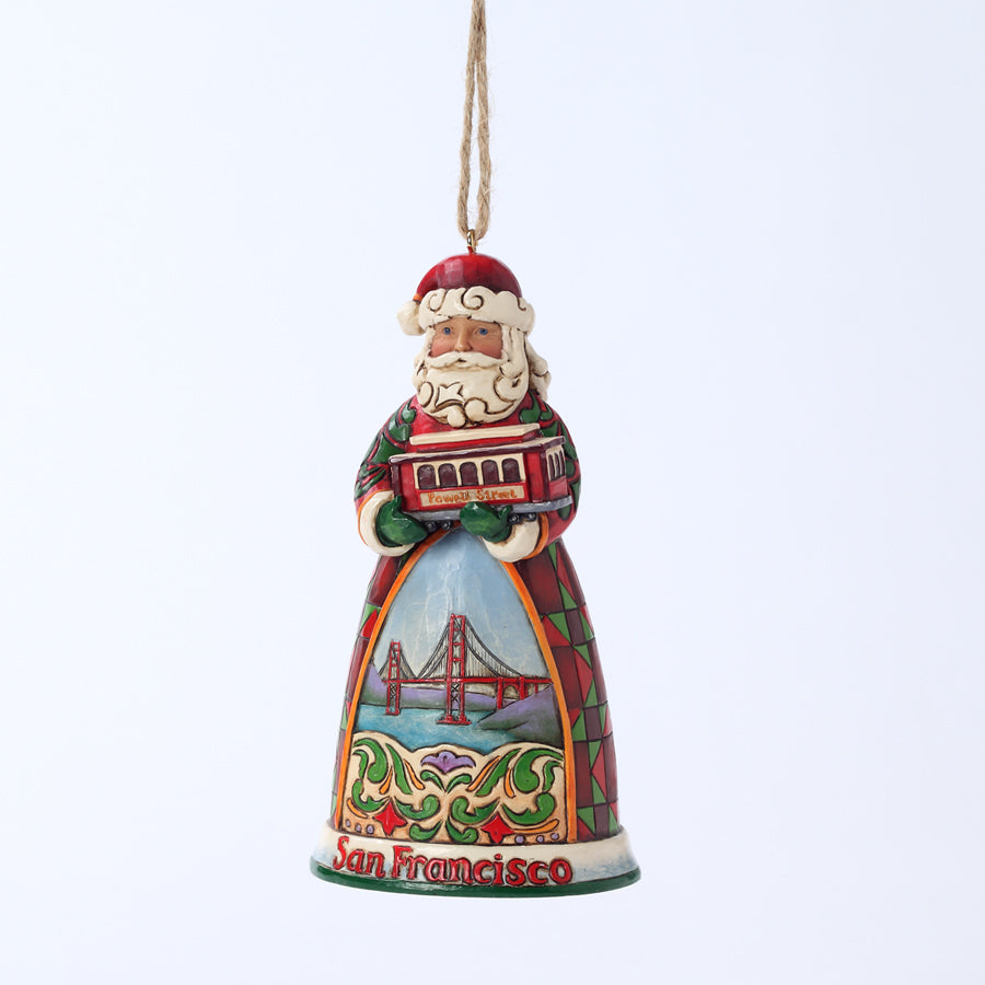 San Francisco Santa Ornament