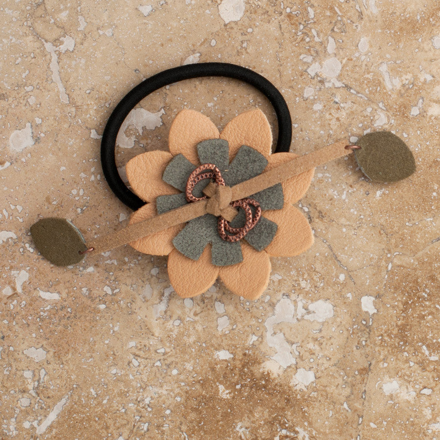 Blonde Flower Hair Tie