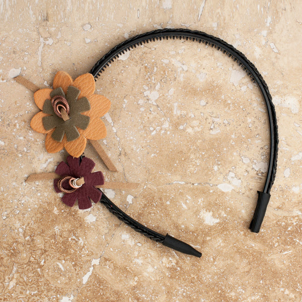 Caramel Red Flower Headband