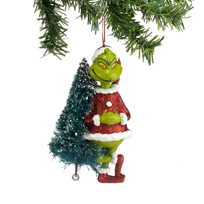 Grinch With Sisal Tree Orn