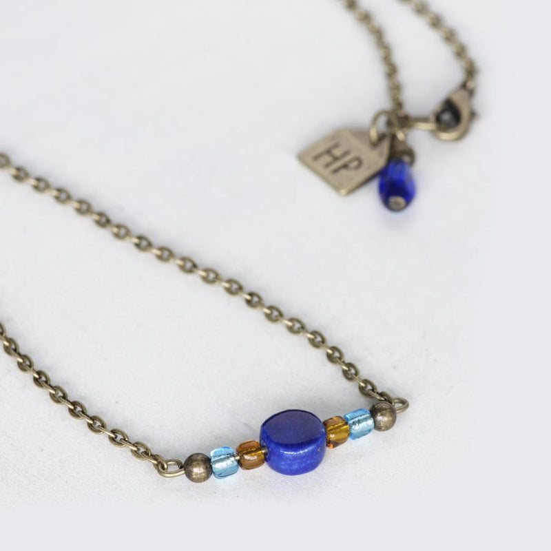 Dark Blue Ceramic Necklace