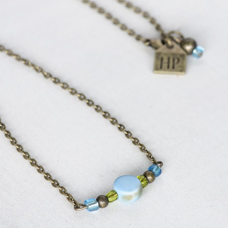 Light Blue Ceramic Necklace