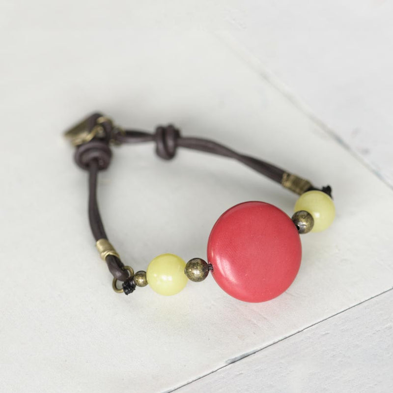 Red/Green Ceramic Bracelet