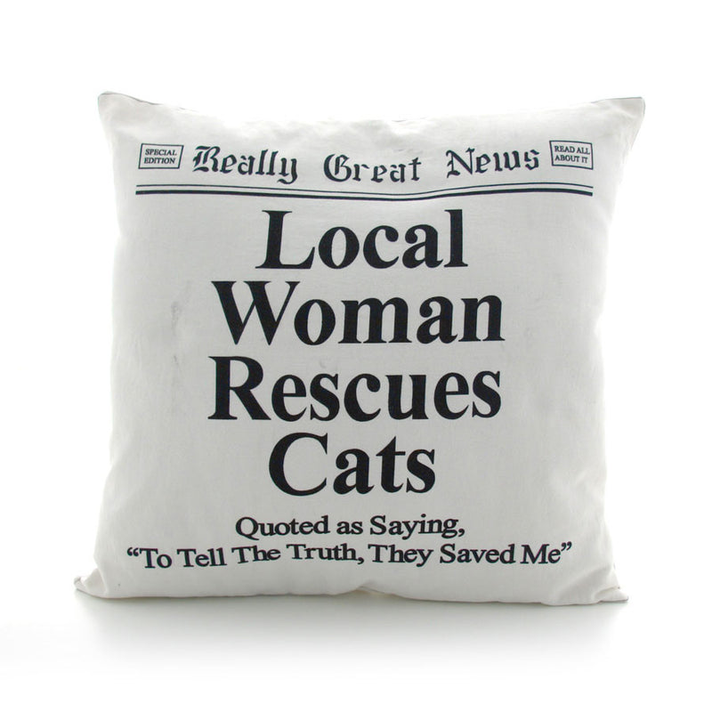 Woman Rescue Cats Pillow