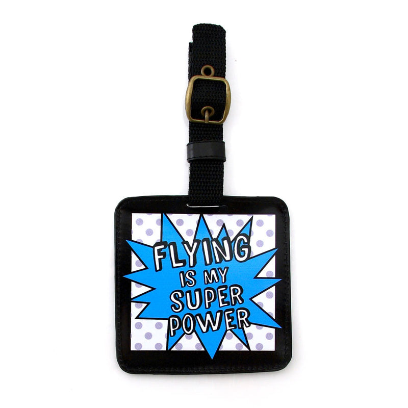 Flying Super Power Luggage Tag
