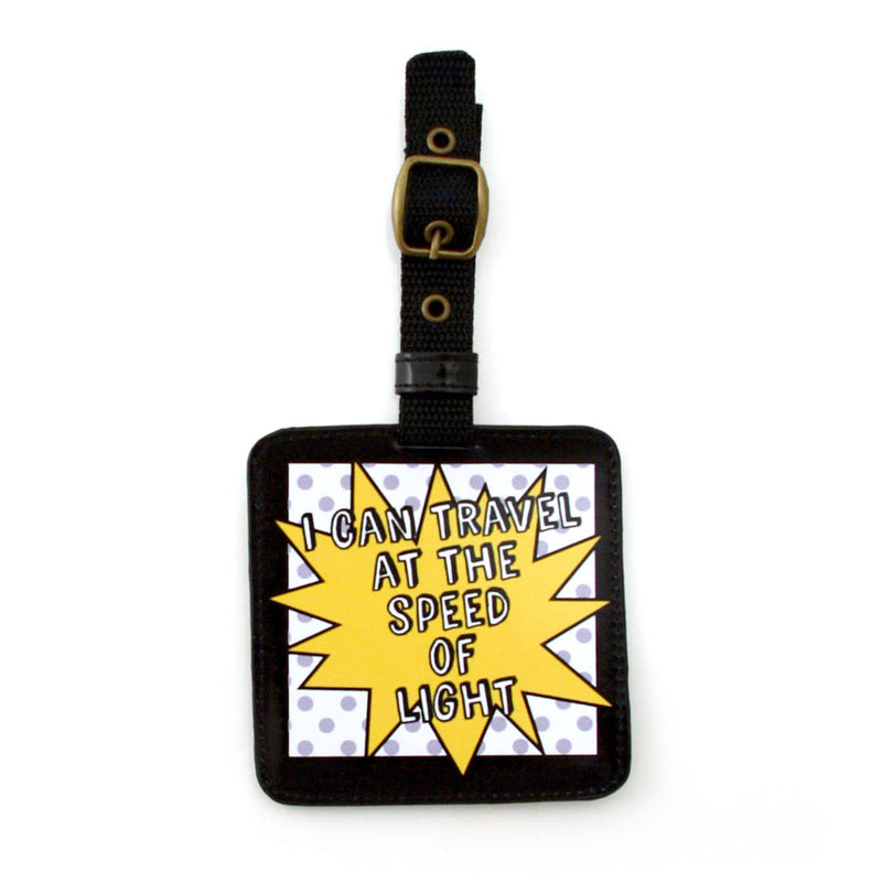 Speed Of Light Luggage Tag