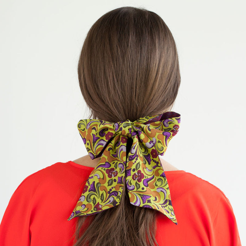 Lena Two-Sided Ponytail Scarf