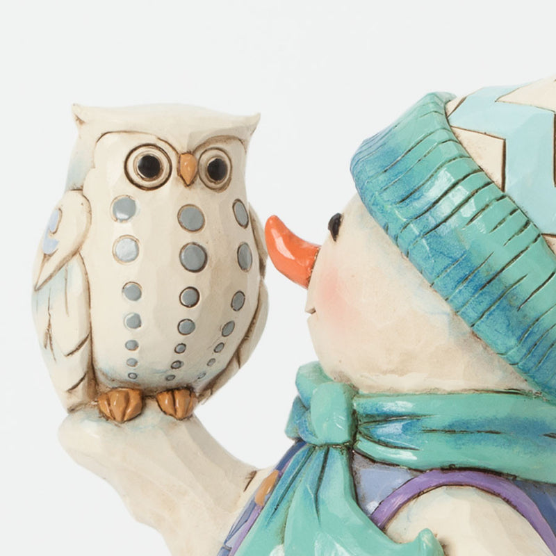 Pint Sized Snowman with Owl