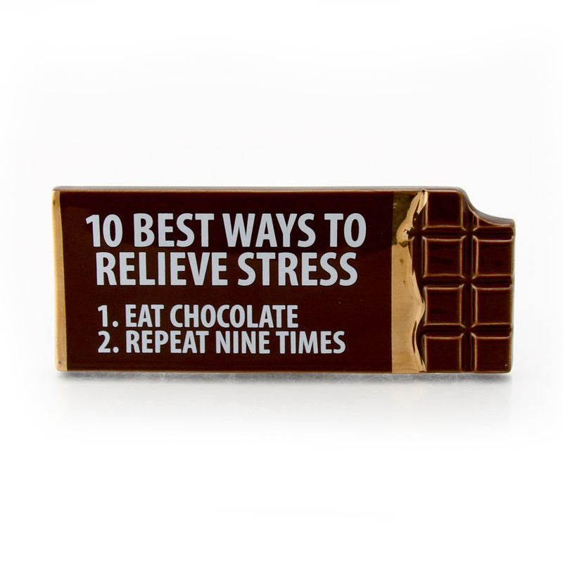 Relieves Stress Choc Plaque