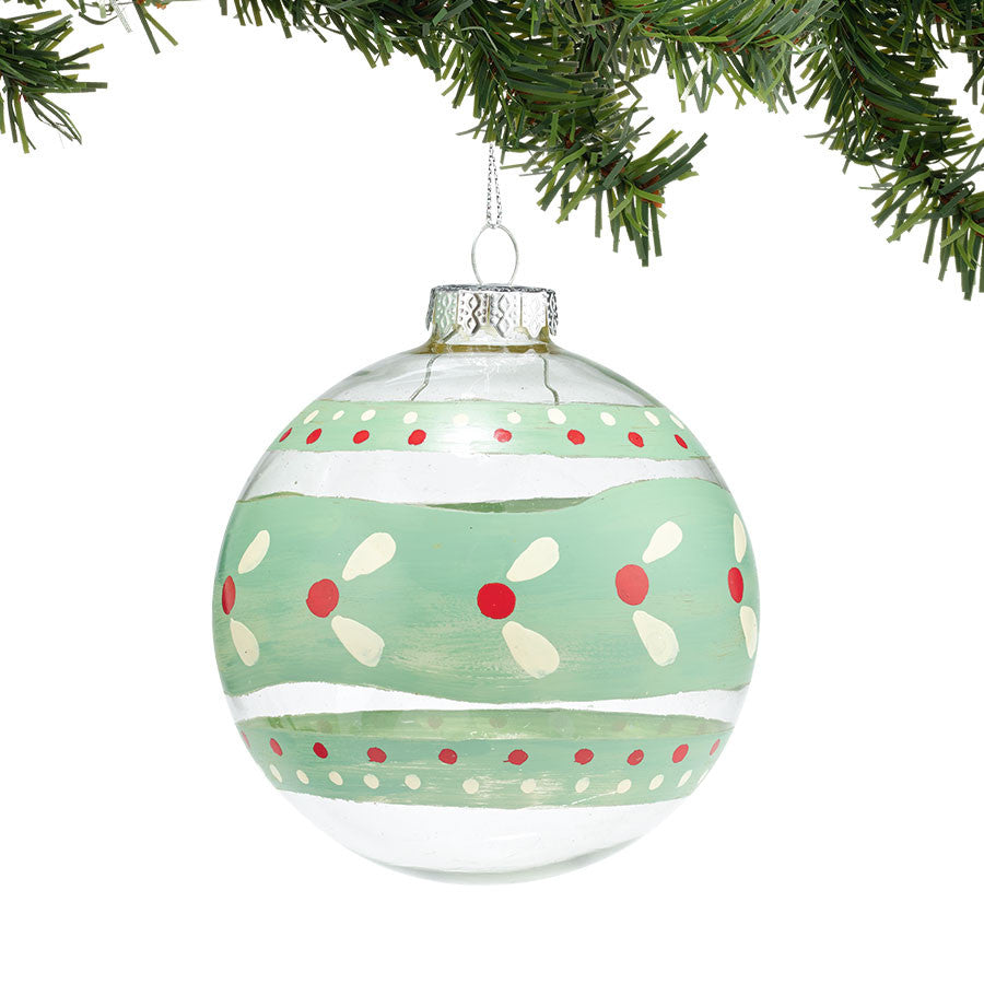 Pattern Glass Ball Ornament