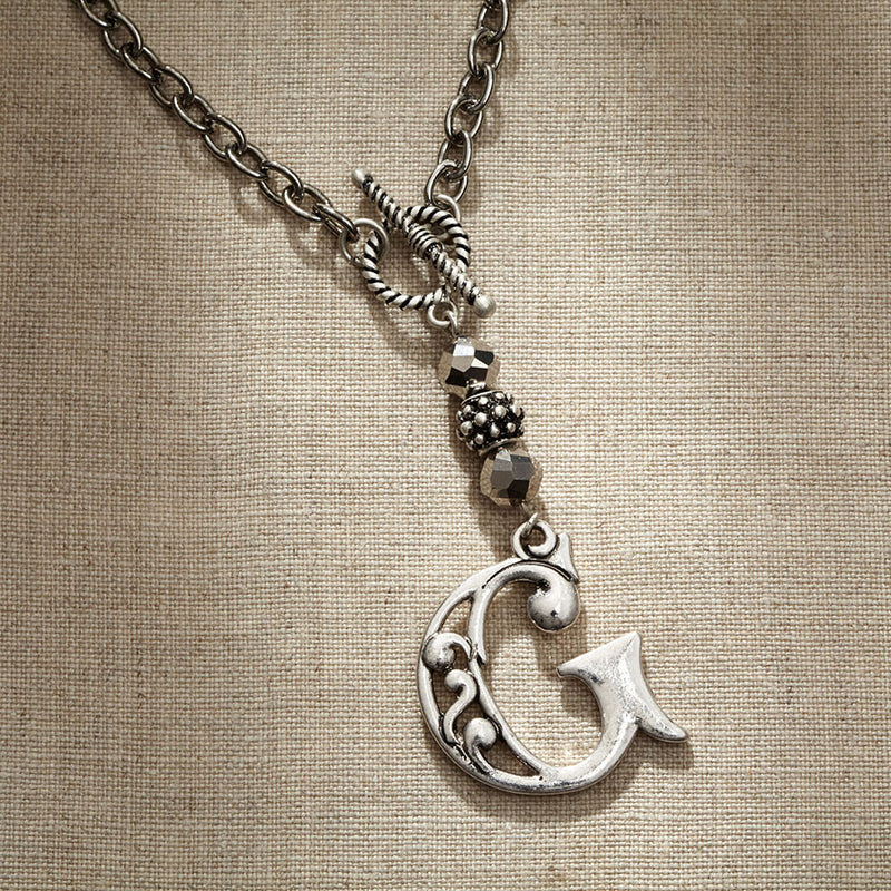 JS Monogram Letter G Necklace