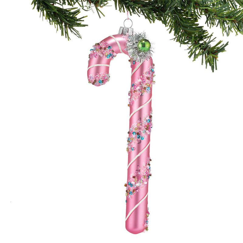 Pink Candy Cane Ornament