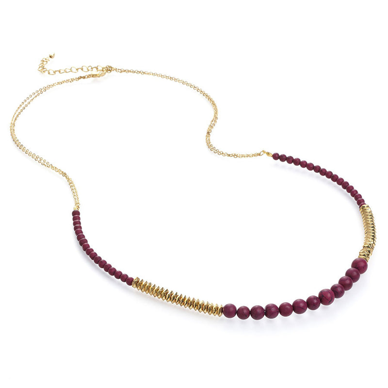 Orchid Long Bead Necklace