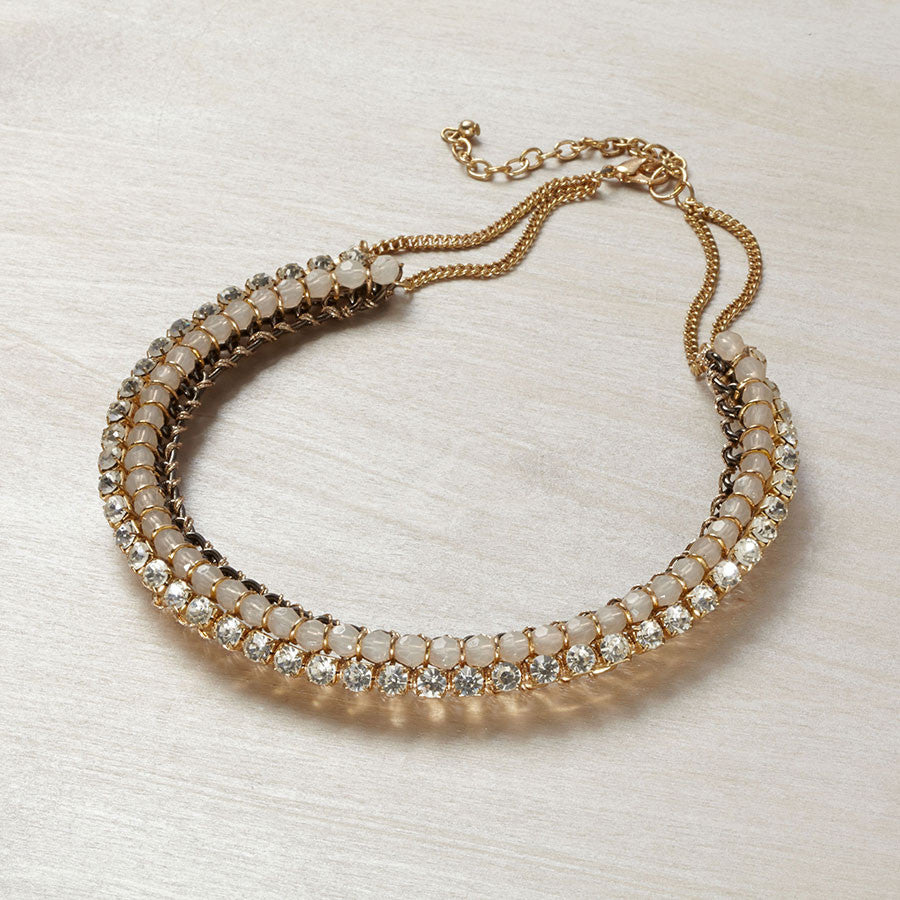 Rose Gold Crystal Collar