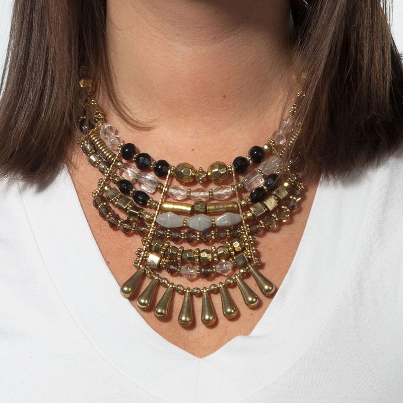 Multi Finish Statement Necklac