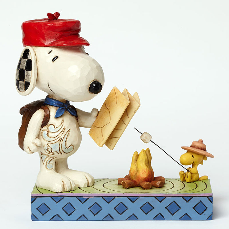 Snoopy and Woodstock Campfire