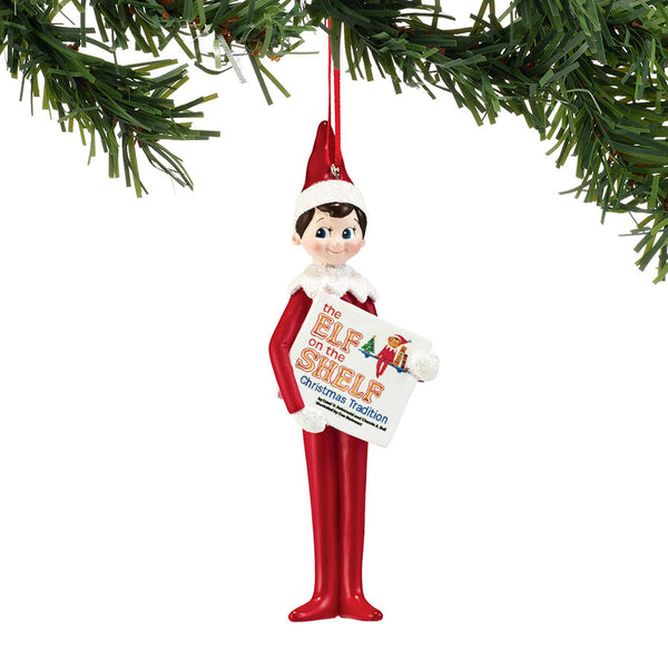 Elf Reading Ornament