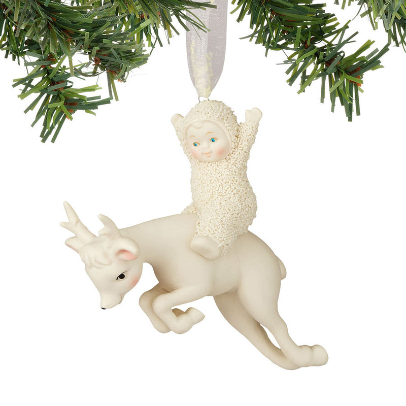 Riding On A Reindeer Ornament