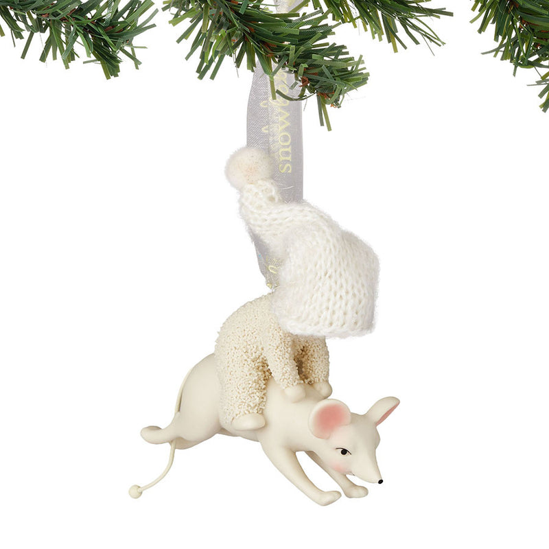 Leaping With A Mouse Ornament