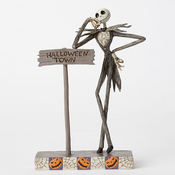 Jack by Halloween Town Sign