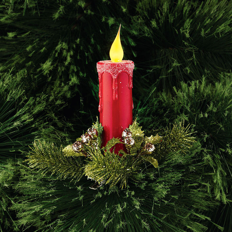Lit Candle Clip Ornament