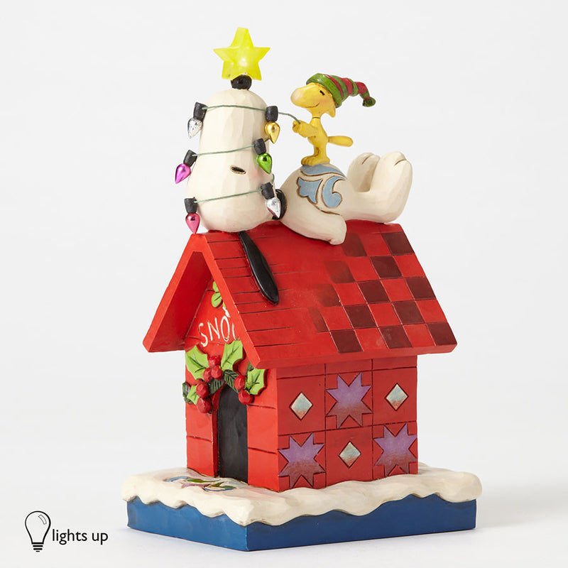 Snoopy Doghouse Lighted Star