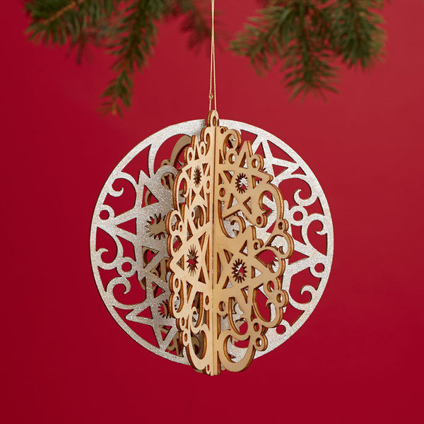 "4"" Slotted Star Ornament"