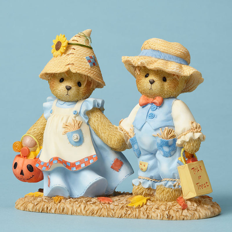 Bears Dressed as Scarecrows