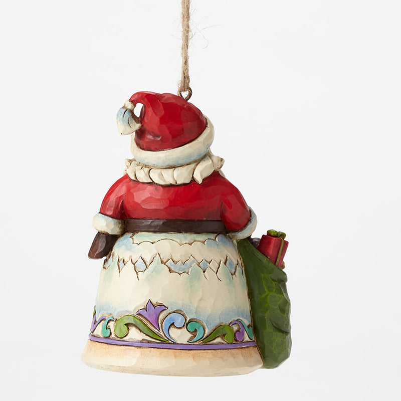 Santa w/Winter Scene Mini Orn