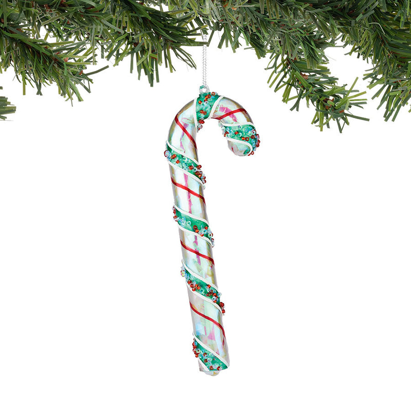 Red Green Candy Cane Ornament