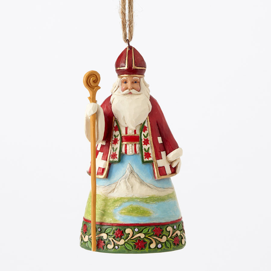 Swiss Santa Ornament