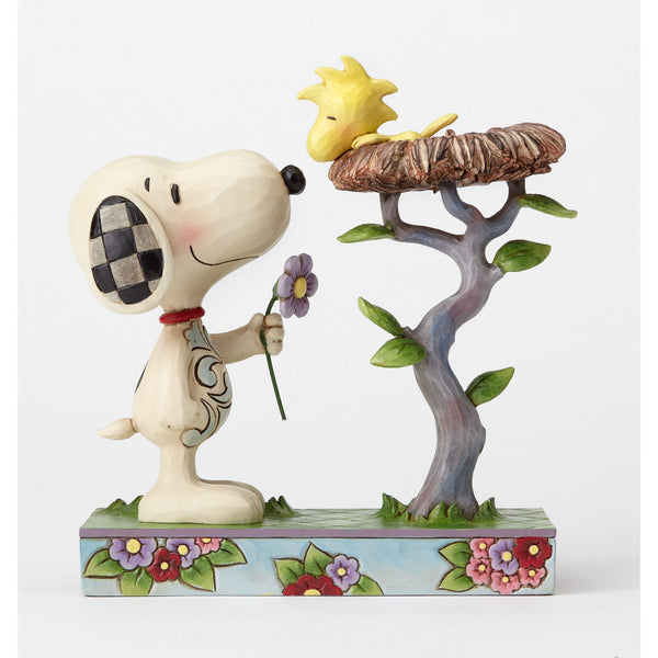 Snoopy with Woodstock in Nest