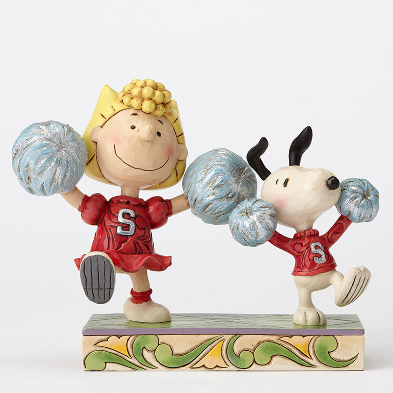 Cheerleading Snoopy and Sally