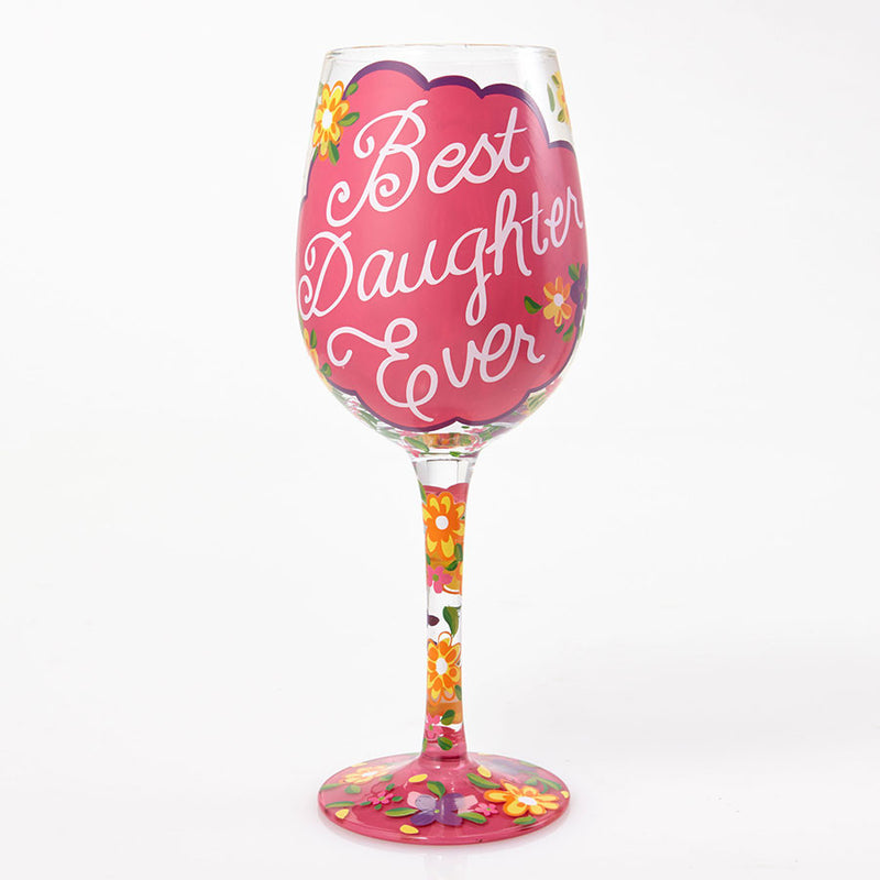 Wine Glass Love My Daughter
