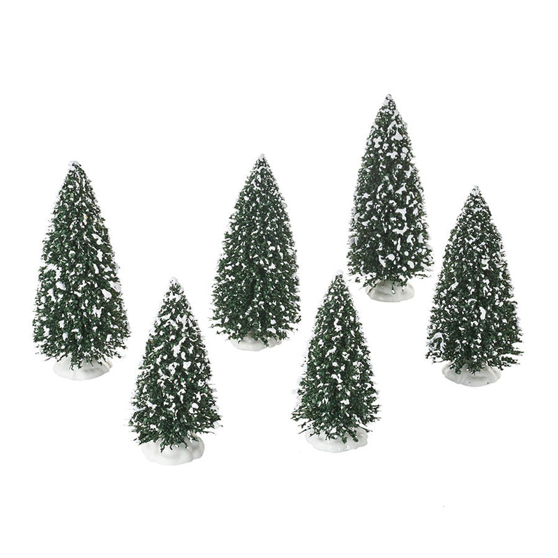 Frosted Pine Grove, Set of 6