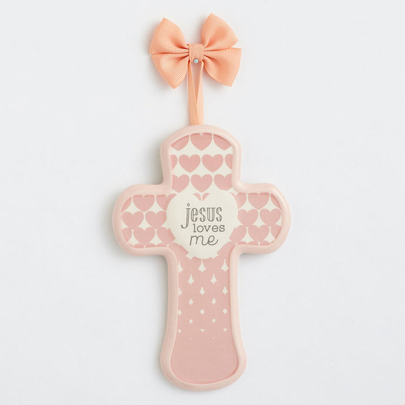 Pink Cross Jesus Loves Me