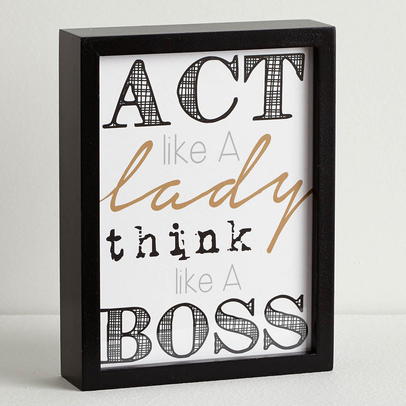 Think like Boss Wall Decor