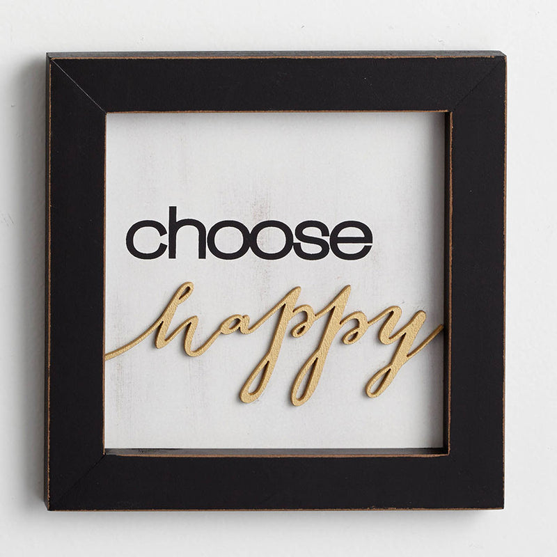 Choose Happy Wall Decor