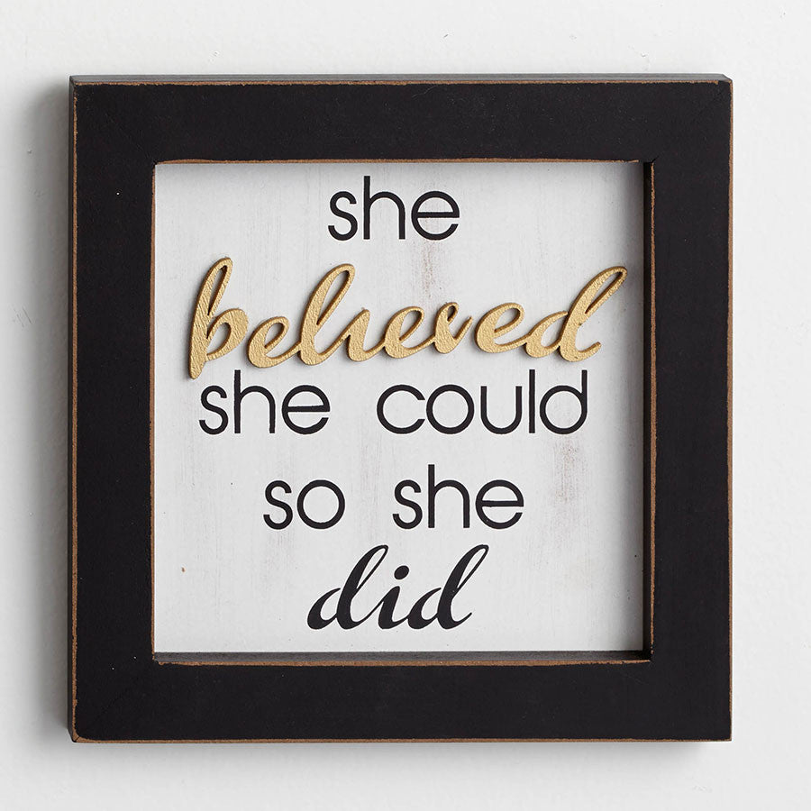 She Believed Wall Decor