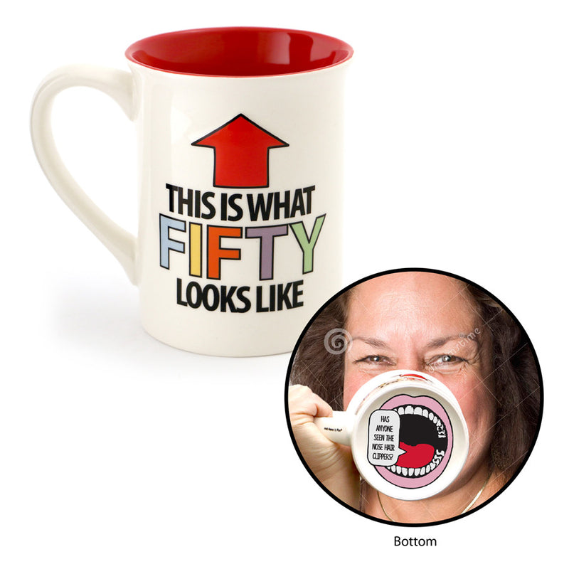 Fifty Birthday Mouth Mug